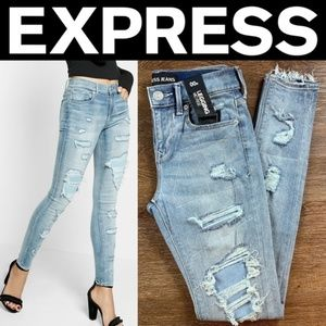 Mid Rise Ripped EXP Tech Jean Legging